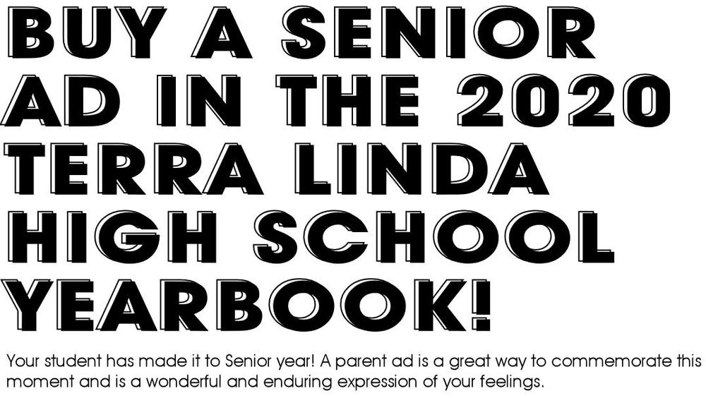 Buy a Senior add in the yearbook